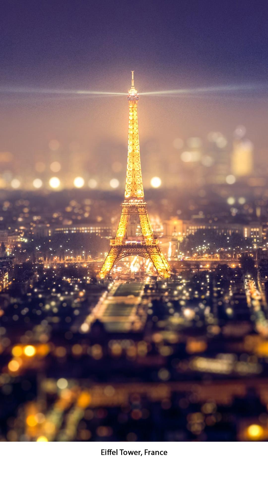 Frankrijk - Eiffel Tower-WIT