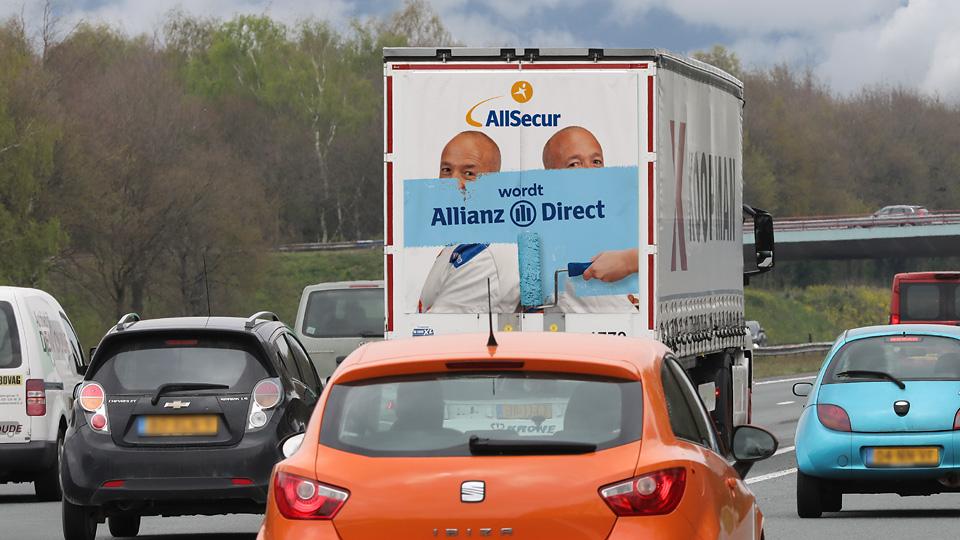 Altermedia Allianz AllianzDirect Vrachtwagenreclame Trailerreclame
