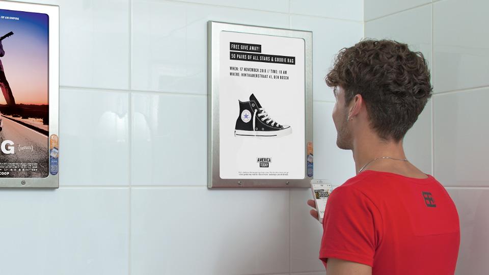 Altermedia  America Today Toiletreclame WCreclame Toiletmedia Washroommedia