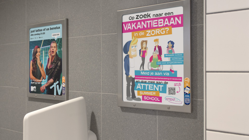 Altermedia  Attent Zorg Toiletreclame Wcreclame Toiletmedia Washroom media