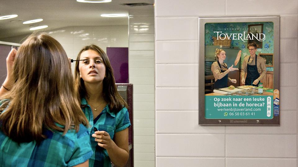Altermedia Attractiepark Toverland Wcreclame Toiletmedia Washroom media