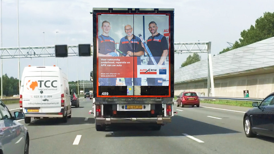 Altermedia Autocrew Vrachtwagenreclame Trailerreclame