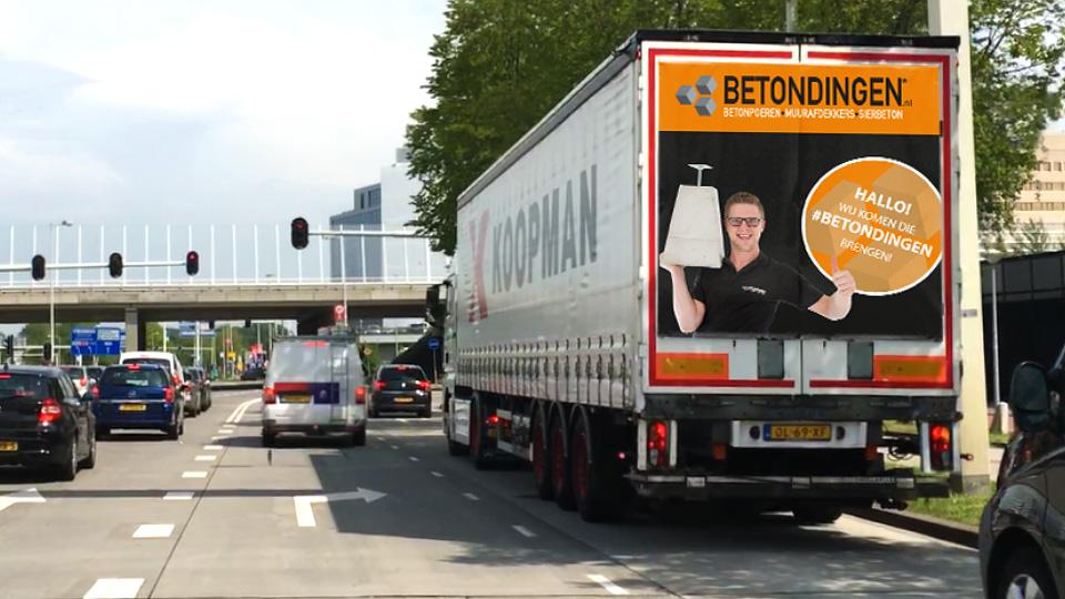 Altermedia Betondingen Vrachtwagenreclame Trailerreclame