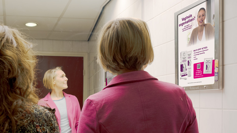 Altermedia Multi-Gyn Toiletreclame Wcreclame Toiletmedia Washroom media