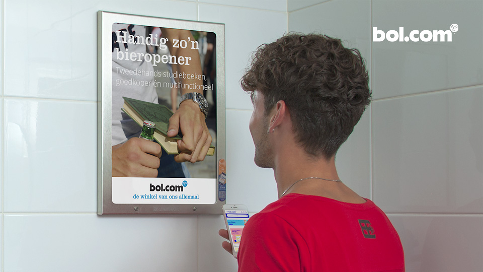 Altermedia bol.com Toiletreclame Wcreclame Toiletmedia Washroom media