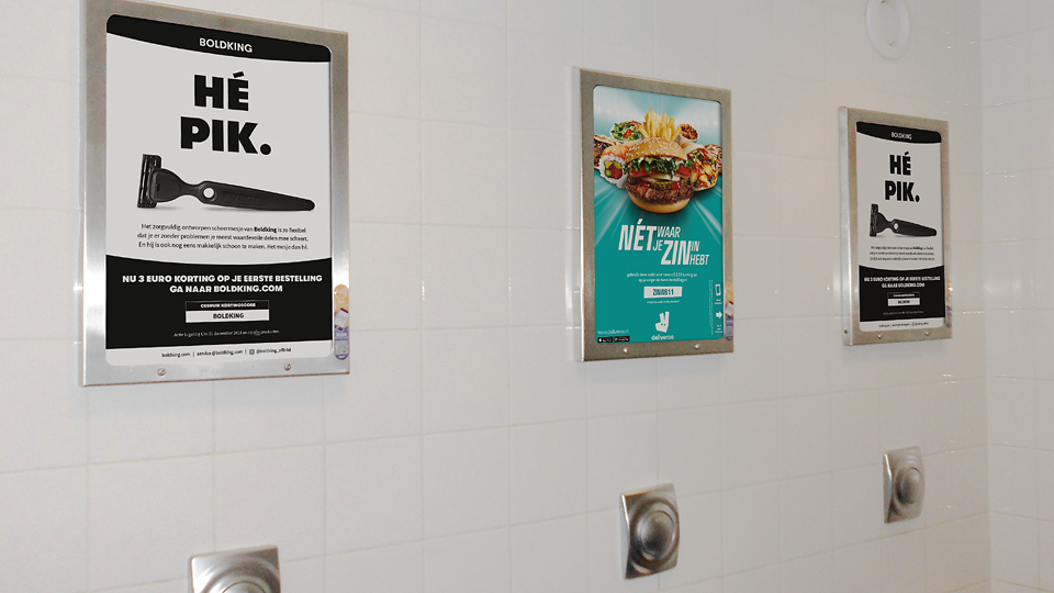 Altermedia  Boldkingion Toiletreclame Wcreclame Toiletmedia Washroom media