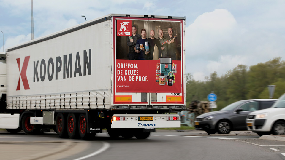 Altermedia Griffon Vrachtwagenreclame Trailerreclame
