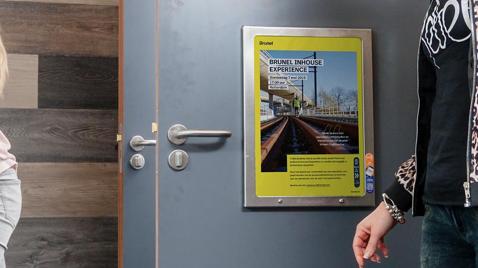 Altermedia Brunel toiletreclame Wcreclame Toiletmedia Washroom media