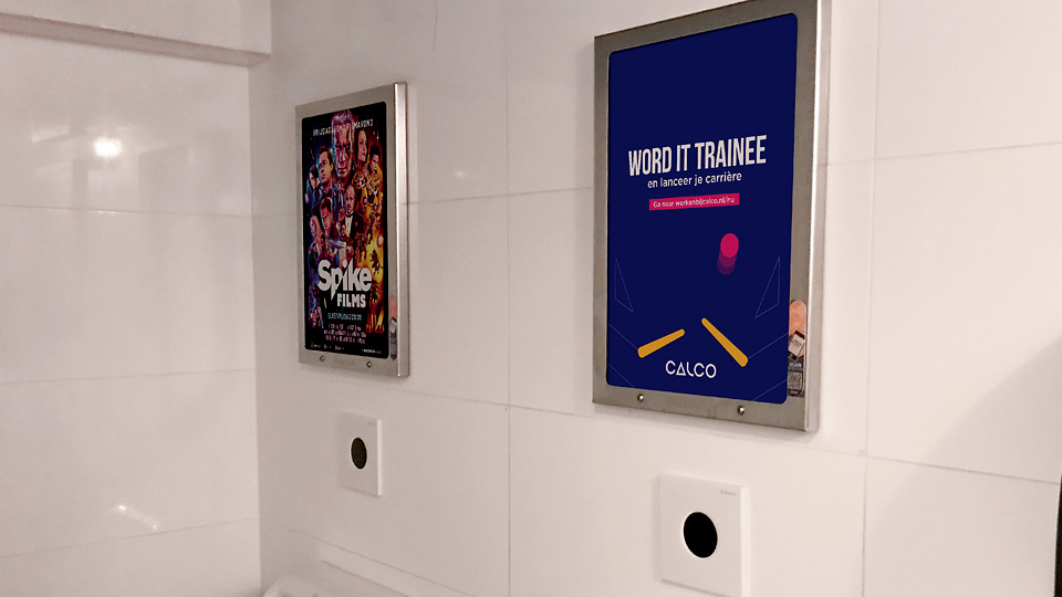 Altermedia Calco toiletreclame Wcreclame Toiletmedia Washroom media