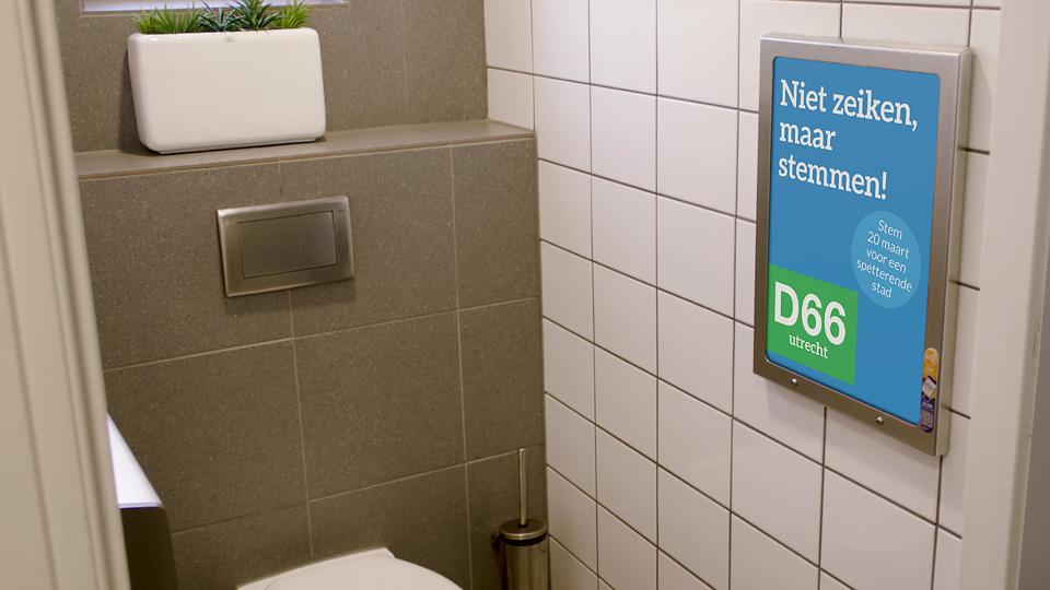 Altermedia D66 Toiletreclame Wcreclame Toiletmedia Washroom media