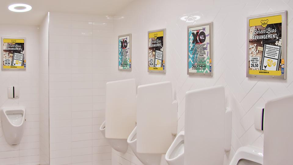 Altermedia  De Beren Toiletreclame Wcreclame Toiletmedia Washroom media