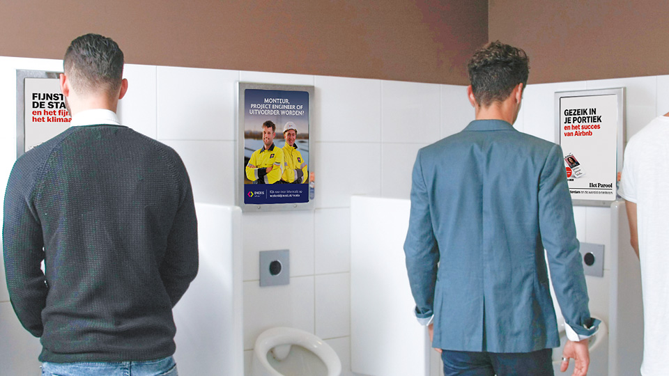 Altermedia De Persgroep Het Parool Toiletreclame Wcreclame Toiletmedia Washroom media