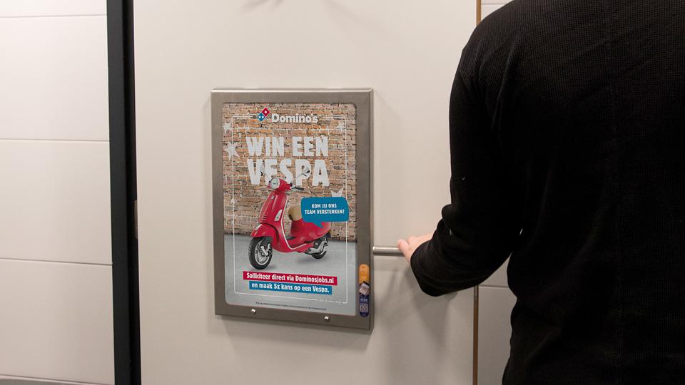 Altermedia Dominos Pizza Toiletreclame Wcreclame Toiletmedia Washroom media