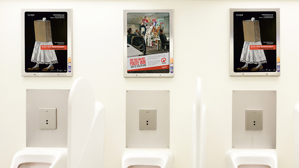 Altermedia  EYE Filmmuseum Toiletreclame Wcreclame Toiletmedia Washroom media