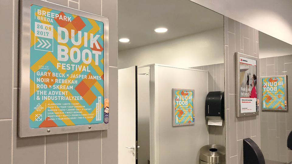 Altermedia  Elevation Events Duikboot festival Toiletreclame Wcreclame Toiletmedia Washroom media