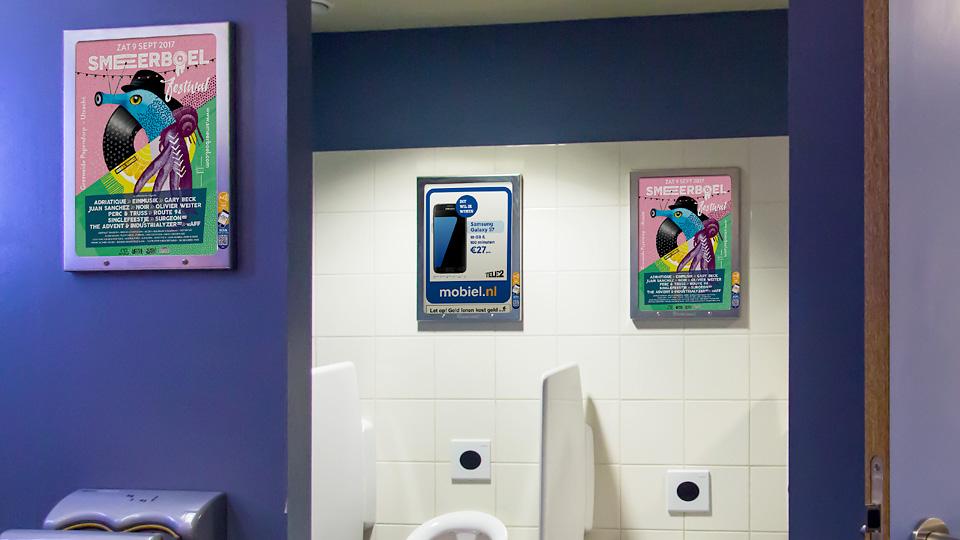 Altermedia  Elevation Events Smeerboel Toiletreclame Wcreclame Toiletmedia Washroom media