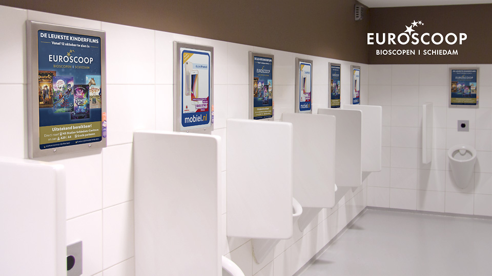 Altermedia Euroscoop Schiedam Toiletreclame Wcreclame Toiletmedia Washroom media