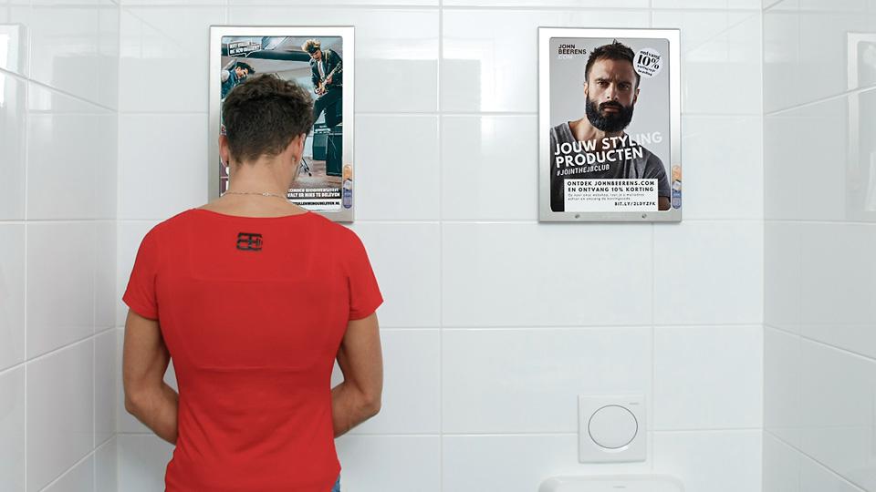 Altermedia Landschapsbeheer Friesland Toiletreclame WCreclame Toiletmedia Washroom media