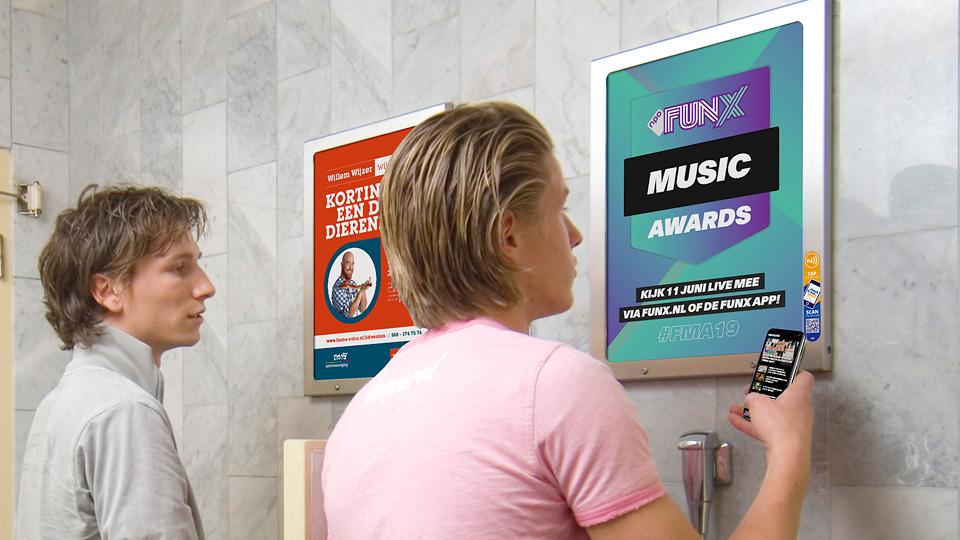 Altermedia NPO Funx Toiletreclame WCreclame Toiletmedia Washroom media