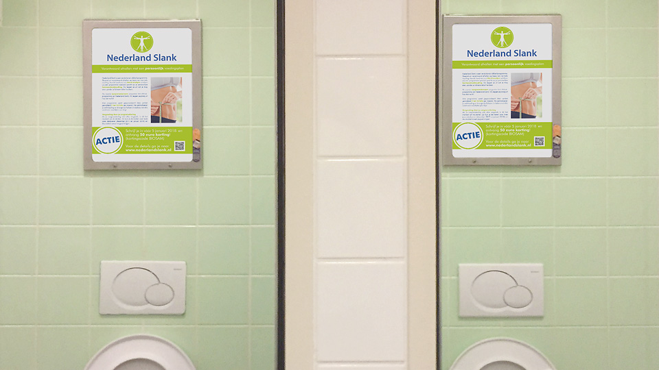 Altermedia Nederland Slank Toiletreclame WCreclame Toiletmedia Washroom media