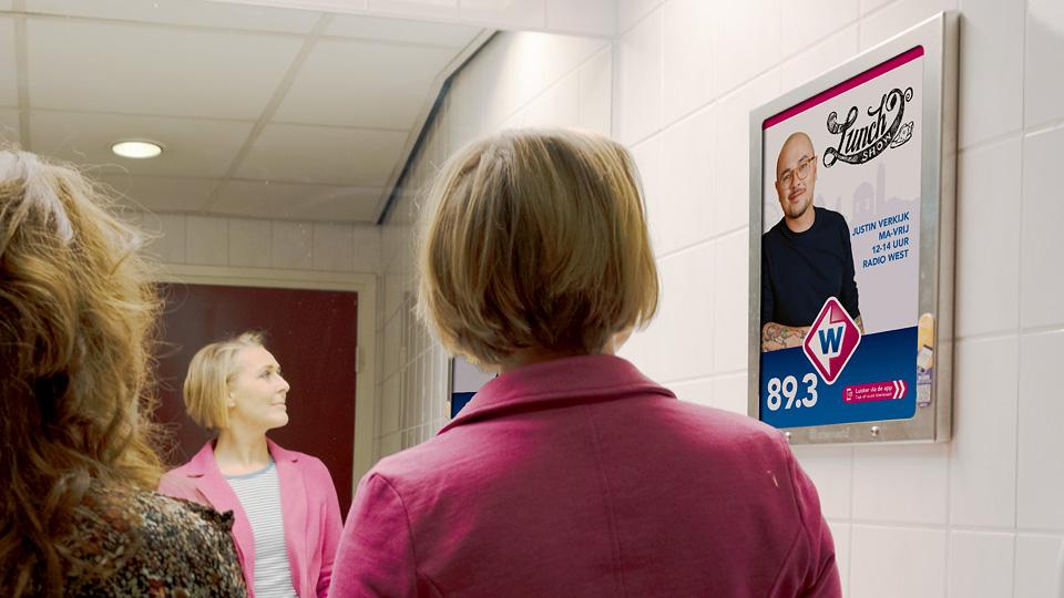 Altermedia Omroep West Toiletreclame WCreclame Toiletmedia Washroom media