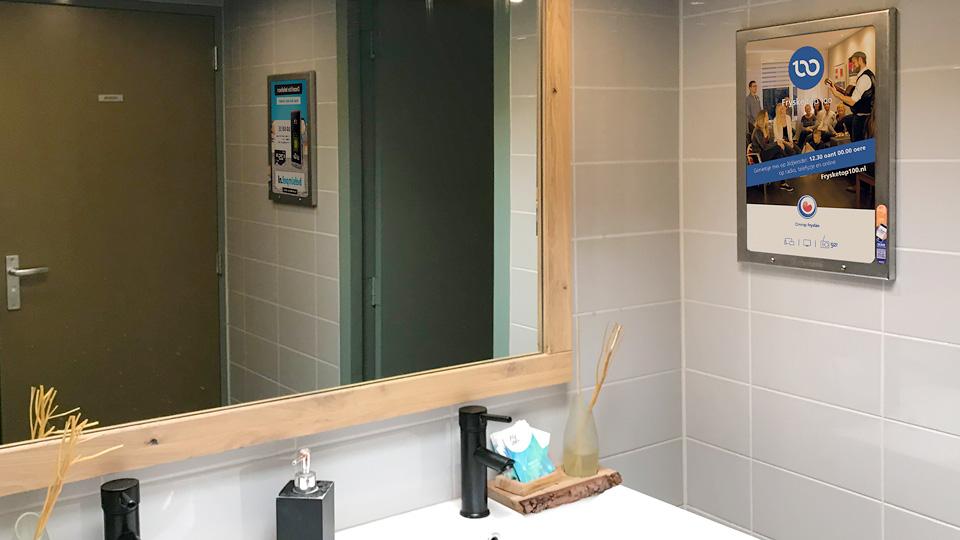 Altermedia Omrop Frysl?n Toiletreclame WCreclame Toiletmedia Washroom media