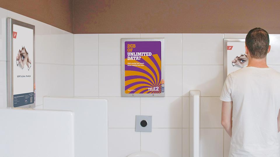 Altermedia P1 Toiletreclame WCreclame Toiletmedia Washroom media