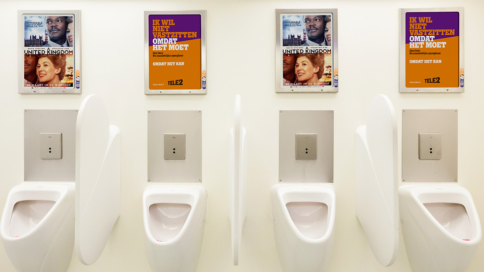 Altermedia Paradiso Films Toiletreclame WCreclame Toiletmedia Washroom media