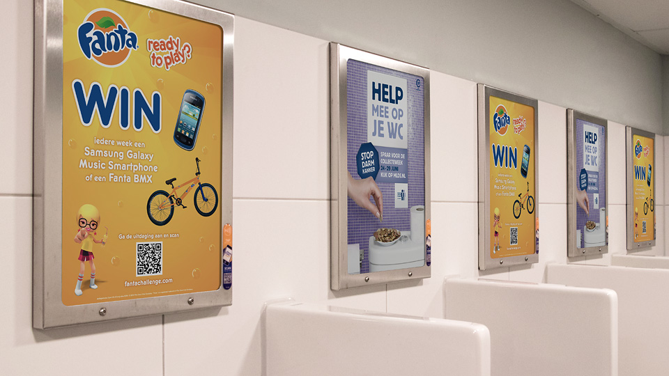 Altermedia Coca Cola Fanta Toiletreclame Wcreclame Toiletmedia Washroom media