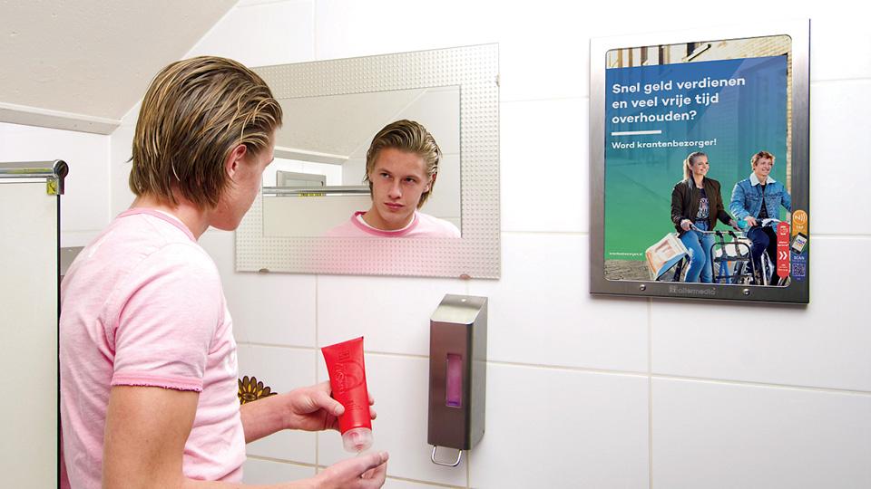 Altermedia De Persgroep Toiletreclame Wcreclame Toiletmedia Washroom media