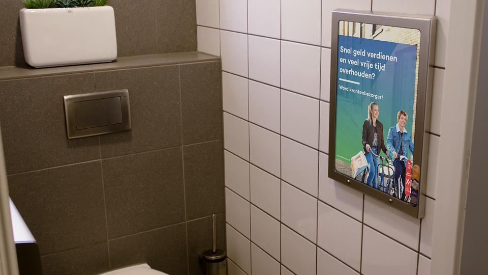 Altermedia De Persgroep Het Parool Toiletreclame Wcreclame Toiletmedia Washroom media