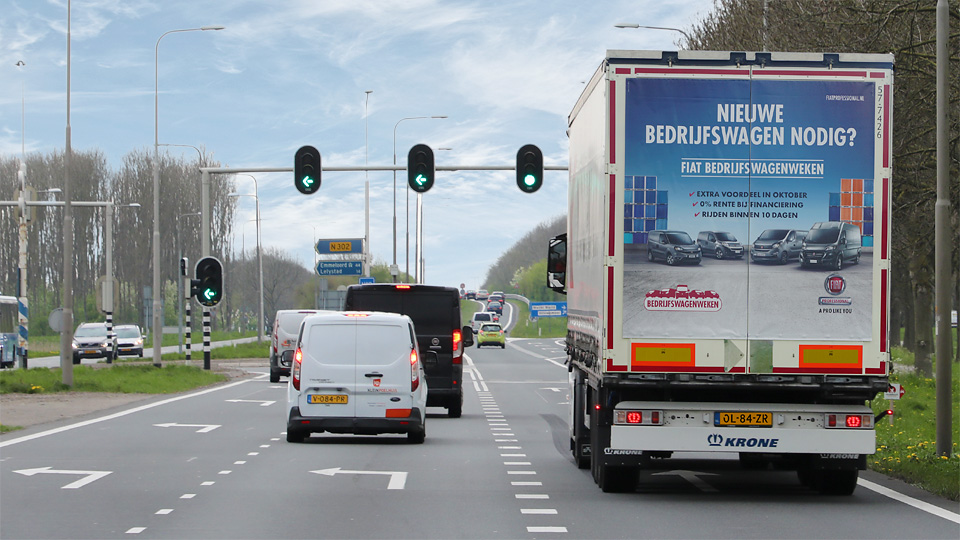 Altermedia Fiat Professional Nederland vrachtwagenreclame Trailerreclame Truck Advertising