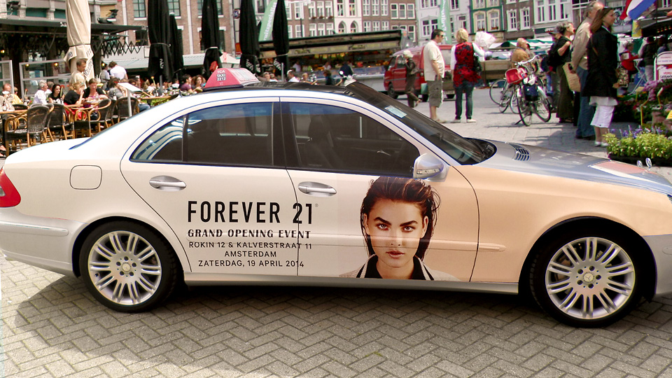 Altermedia Forever21 taxireclame