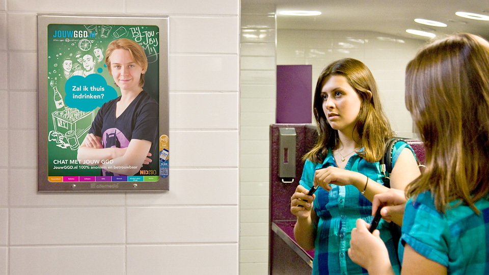 Altermedia GGD Hart voor Brabant JouwGGD.nl WCreclame toiletmedia Washroom media