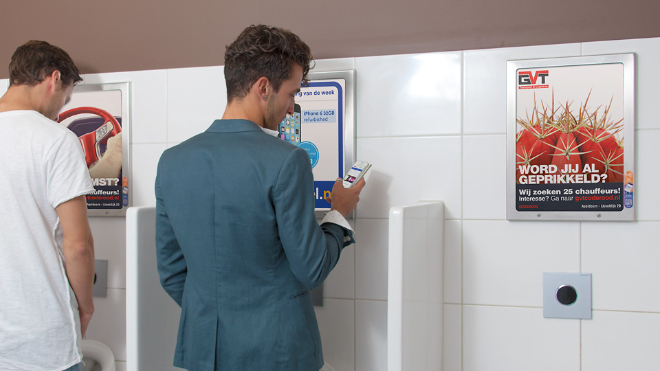 Altermedia GVT Transport & Logistics WCreclame toiletmedia Washroom media