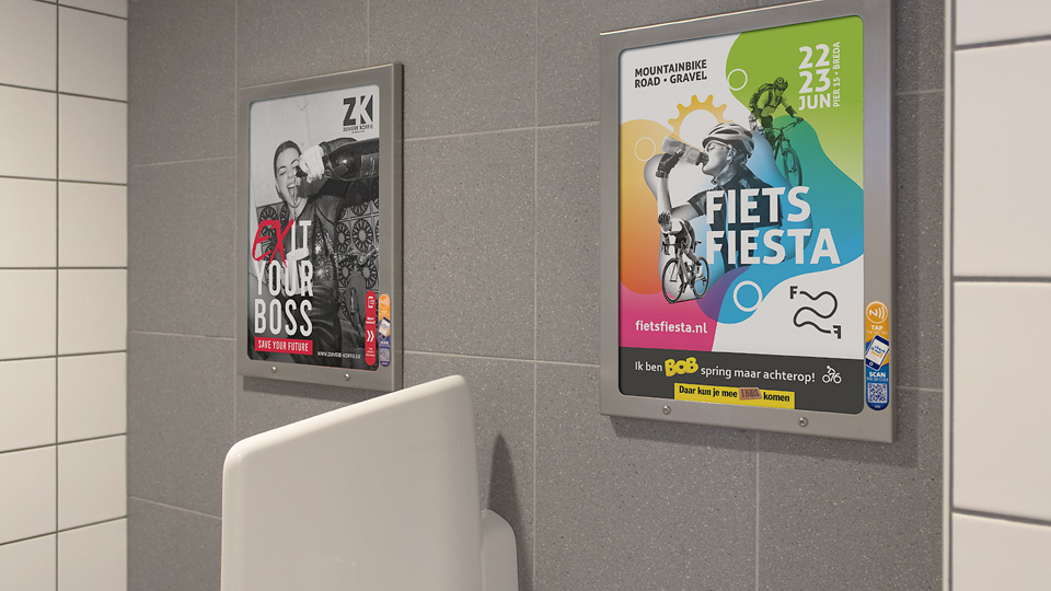 Altermedia Gemeente Breda WCreclame toiletmedia Washroom media