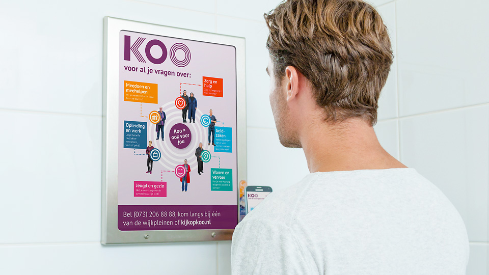 Altermedia Gemeente Den Bosch WCreclame toiletmedia Washroom media