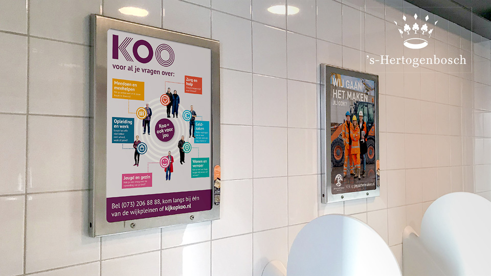 Altermedia Gemeente Den Bosch WCreclame toiletmedia Washroom media