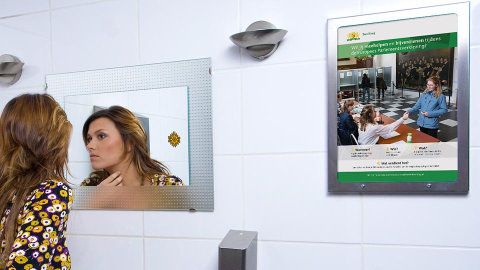 Altermedia Gemeente Den Haag WCreclame toiletmedia Washroom media