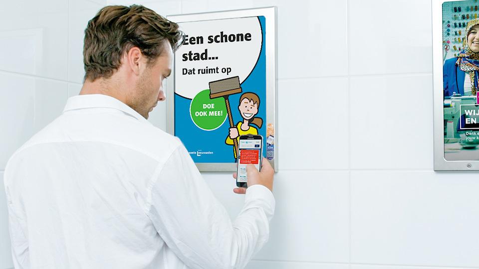 Altermedia Gemeente Leeuwarden WCreclame toiletmedia Washroom media