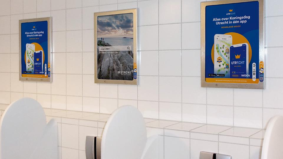Altermedia Gemeente Utrecht WCreclame toiletmedia Washroom media