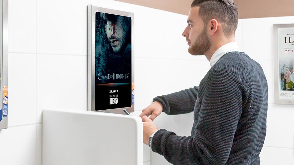 Altermedia HBO Game Of Thrones WCreclame toiletmedia Washroom media