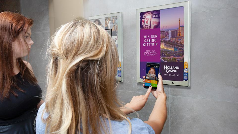 Altermedia Holland Casino Nijmegen WCreclame Toiletmedia Washroom media