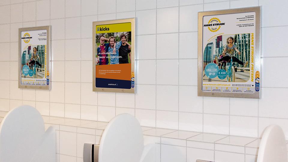 Altermedia Hans Struijk WCreclame toiletmedia Washroom media