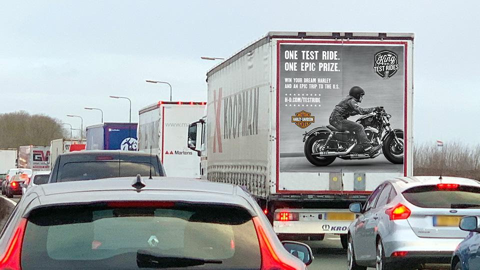 Altermedia Harley Davidson Vrachtwagenreclame Trailerreclame Truck Advertising
