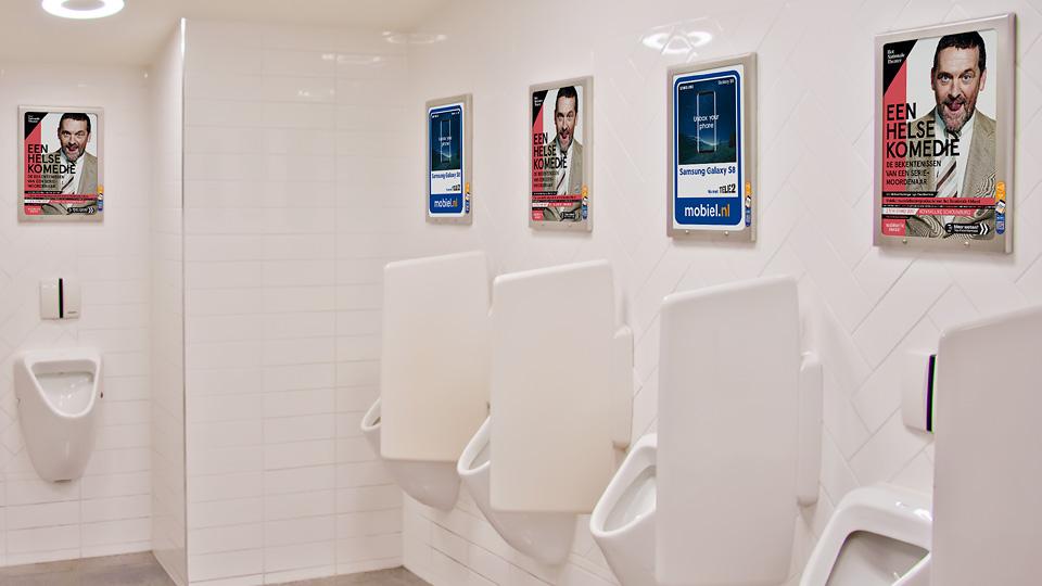 Altermedia Het Nationaal Toneel WCreclame Toiletmedia Washroom media