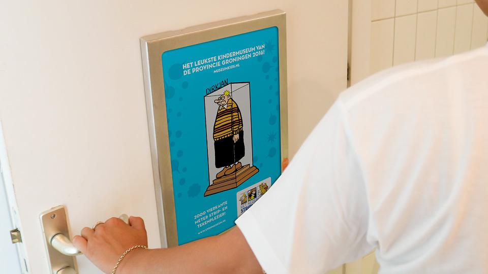 Altermedia Het Nederlands Stripmuseum WCreclame Toiletmedia Washroom media