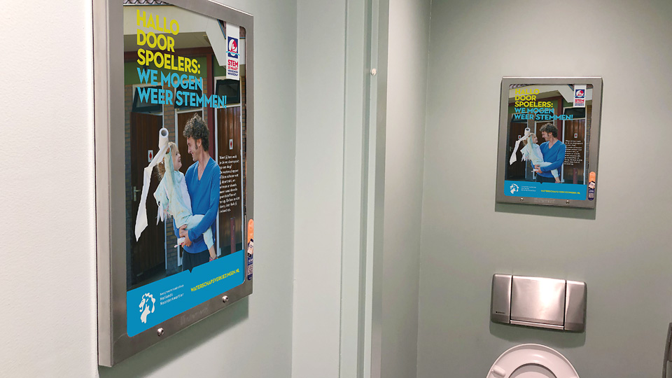 Altermedia Hoogheemraadschap Hollands Noorderkwartier WCreclame Toiletmedia Washroom media