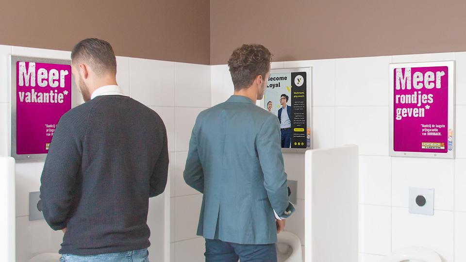 Altermedia Hornbach Toiletreclame WCreclame Toiletmedia Washroom media