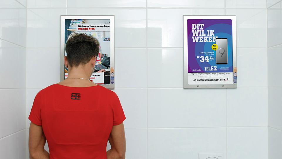 Altermedia Huurteam Utrecht Toiletreclame WCreclame Toiletmedia Washroom media